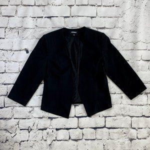 Express black stretch blazer w/ cropped sleeves